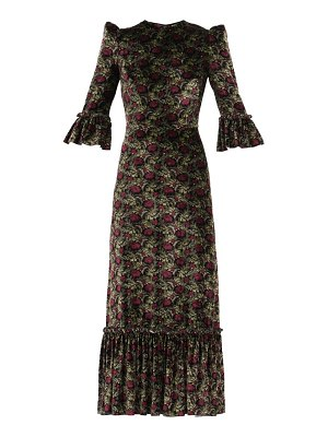 THE VAMPIRE'S WIFE the festival poppy-print velvet midi dress