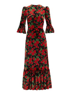 THE VAMPIRE'S WIFE the festival rose-print velvet midi dress