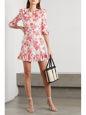 THE VAMPIRE'S WIFE the gloria ruffled floral-print cotton-poplin mini dress