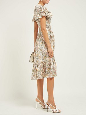 THE VAMPIRE'S WIFE the la floral print silk satin midi dress