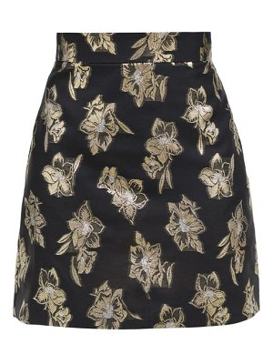 THE VAMPIRE'S WIFE the nearly nuthin' floral-brocade mini skirt