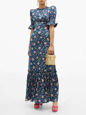 THE VAMPIRE'S WIFE the night flight floral print silk maxi dress