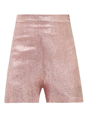 THE VAMPIRE'S WIFE the persuasion wool-blend lamé shorts