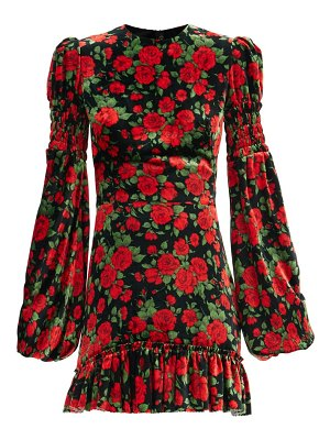 THE VAMPIRE'S WIFE the runaway rose-print velvet mini dress