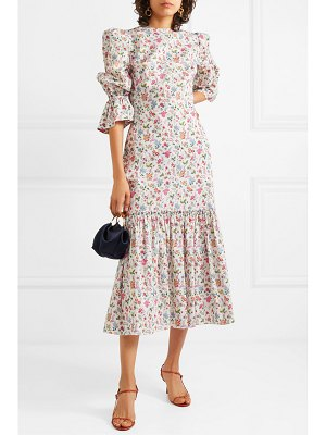 THE VAMPIRE'S WIFE the songbird tiered floral-print cotton midi dress