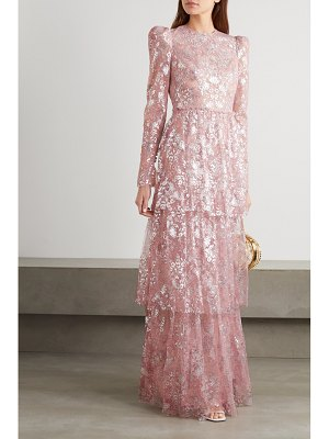 THE VAMPIRE'S WIFE the unrequited tiered metallic lace maxi dress