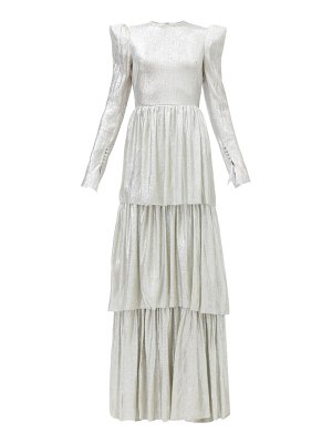 THE VAMPIRE'S WIFE the unrequited tiered wool-blend lamé dress
