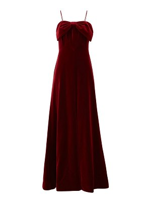 THE VAMPIRE'S WIFE the velvet bow-trim cotton gown