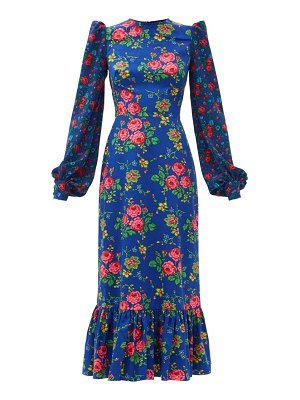 THE VAMPIRE'S WIFE the villanelle floral-print cotton maxi dress