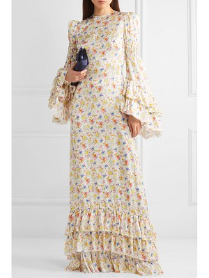 THE VAMPIRE'S WIFE tiered floral-print crepe maxi dress