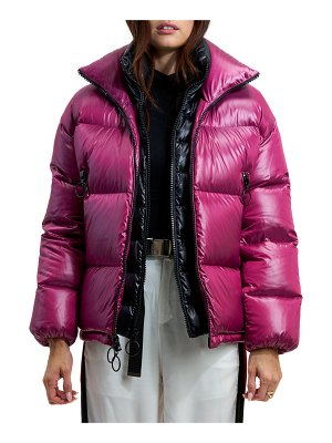 The Very Warm Alma Puffer Coat w/ Artwork Lining