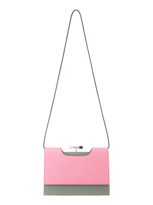 THE VOLON chateau colorblock leather shoulder bag