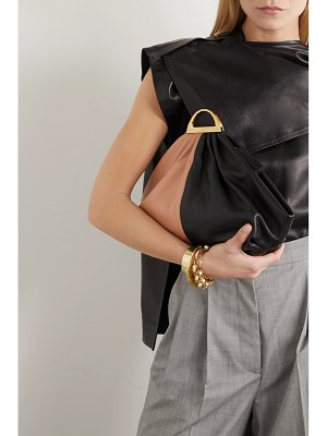 THE VOLON gabi two-tone leather clutch
