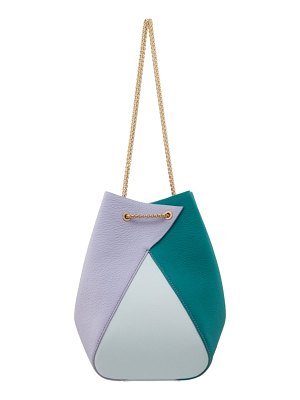 THE VOLON mani colorblock leather shoulder bag