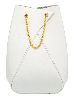 THE VOLON Mani Leather Bucket Bag