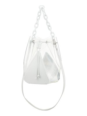 THE VOLON Mani Mini PVC and Leather Bucket Bag
