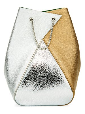 THE VOLON Mani Mixed Metallic Bucket Bag
