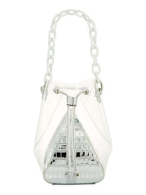 THE VOLON Mani Mixed PVC Bucket Bag