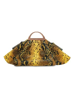 THE VOLON Mini gabi snake printed leather clutch