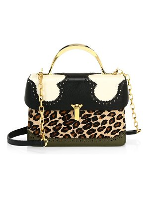 THE VOLON the new old things data alice 2 calf hair leather satchel