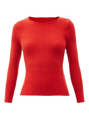 Thebe Magugu boat-neck ribbed wool sweater