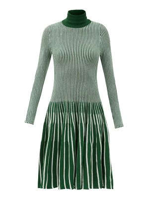 Thebe Magugu roll-neck striped wool dress