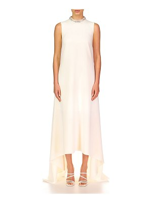 Theia Emery High-Low Crepe Gown