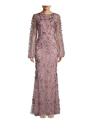Theia Floral Embroidered Gown
