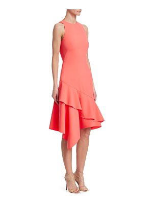 Theia sleeveless asymmetric dress
