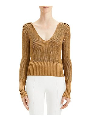 Theory back collar v-neck pullover sweater