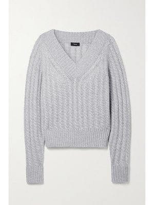 Theory cable-knit cashmere sweater