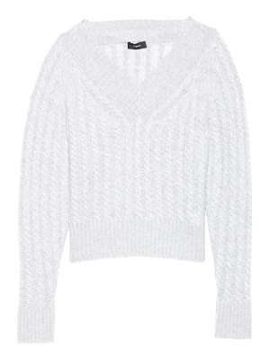 Theory cashmere cable-knit pullover