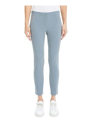 Theory Check Skinny Cropped Pants
