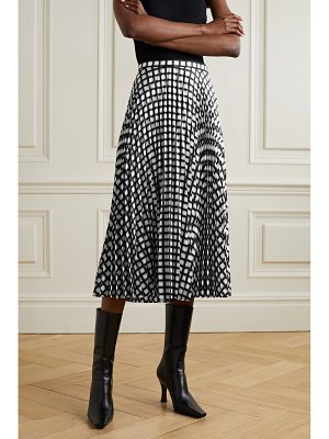 Theory checked pleated twill skirt