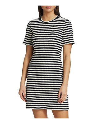 Theory Cherry Stripe T-Shirt Dress