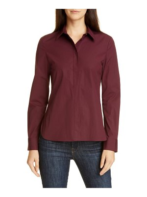 Theory classic fitted stretch cotton shirt