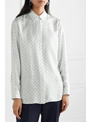 Theory classic printed silk-satin twill shirt