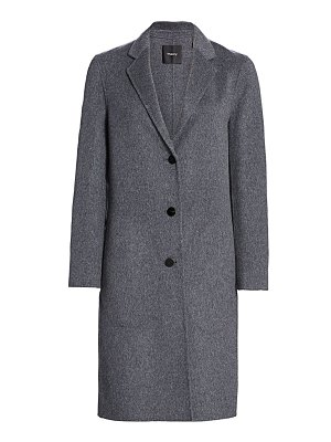 Theory classic double-faced wool coat