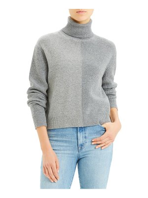 Theory colorblock cashmere turtleneck sweater