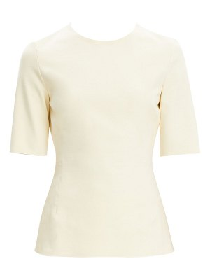 Theory cotton ponte fitted top