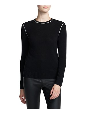 Theory Crewneck Cashmere Long-Sleeve Pullover