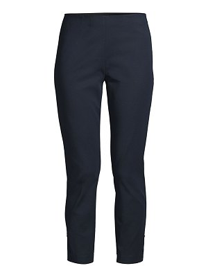 Theory crop tapered snap leggings