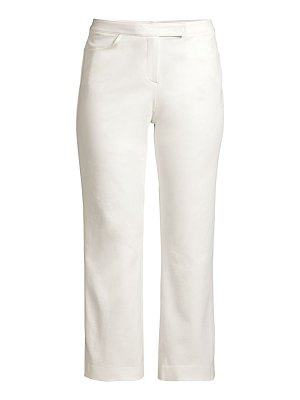Theory double stretch cotton crop pants