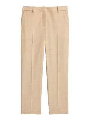 Theory sleek flannel cropped tailored trousers