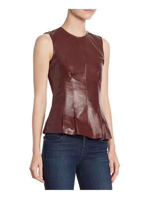 Theory Darted Leather Top