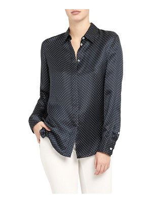 Theory dot button-up shirt