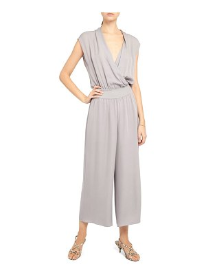 Theory drape silk jumpsuit