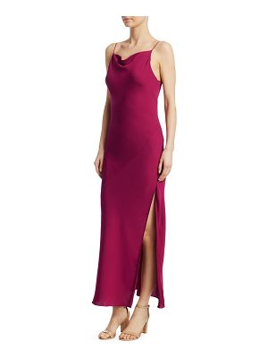 Theory draped back silk gown