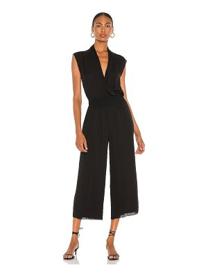 Theory draped combo silk jumpsuit