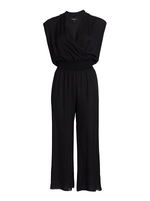 Theory draped silk jumpsuit
